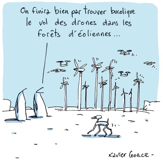 Xavier Gorce vol des drones